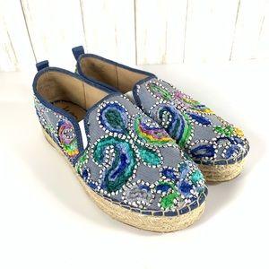 Sam Edelman Carrin platform espadrille shoes sz 9